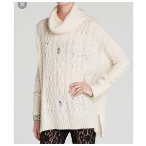 NWOT- Free People oversized distressed sweater